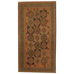 Herat Oriental Afghan Hand-woven Soumak Kilim Rust/ Green Rug