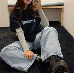Source by outfits Grunge Outfits, Trendy Outfits, Cool Outfits, Fashion Outfits, Fashion Killa, Look Fashion, Korean Fashion, Looks Style, My Style