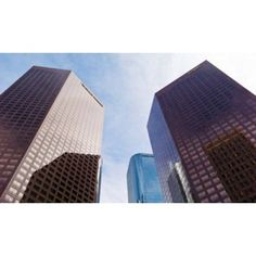 Low angle view of skyscrapers Wells Fargo Center California Plaza Los Angeles California USA Canvas Art - Panoramic Images (36 x 22)