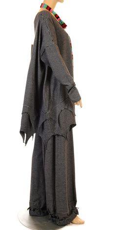 71c2c3fe121 Funky Dark Stripe Knot Hem Jersey Trouser-lagenlook