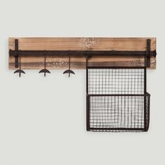 One of my favorite discoveries at WorldMarket.com: Wood and Metal Entryway Wall Storage