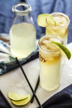 The Stormy Summer Cocktail is a light and refreshing spin on the popular dark 'n' stormy, perfect for a summer night with or without a thunderstorm (summer storms I love them).