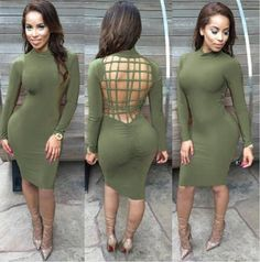 53e7b685580 Vestidos Sexy Club Stretch Laced Back Cage Winter Party Dresses Black Night  Wear Criss Cross Warm Cotton Bandage Bodycon Dress