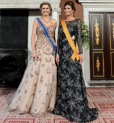 27 March 2017 - Visit of Argentinian President Mauricio Macri to The Netherlands (day 1) - dress by Jan Taminiau