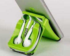 Green EarPod Case and Stand iPhone 5, iPod Touch, iPad Mini – $10