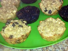 Protien Muffins! 3 cups old fashioned oats 2teaspoon baking powder 4 egg whites 1tablespoon honey 1 smashed banana 1 and 1/4 cups milk 1teaspoon vanilla and i scoop of vanilla Protein bake at 375 for 15 minutes. you can add raisins, dark chocolate chips, or I added Hershey's cocoa special dark powder