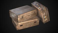 ArtStation - Vintage Suitcase, Ilya «FR4» Dolgov Game Assets, 3d Models, Suitcase, Artwork, Vintage, Work Of Art, Auguste Rodin Artwork, Artworks, Suitcases