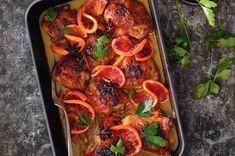 Kuře na krvavých pomerančích Paella, Meat, Chicken, Ethnic Recipes, Cubs