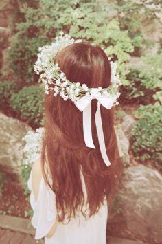 wedding flower crown & bouquet headband hair by Floralhouse, $89.00