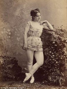 Burlesque dancers of the 1890s. Photos collected by Charles H. McCaghy, a professor emeritus at Bowling Green State University in Ohio