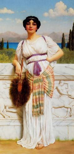 A Greek Beauty by John William Godward