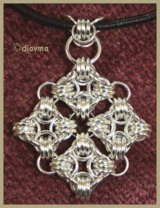 "Chainmaille pendants are ""difficult"", but this one is especially nice."