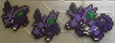 #032-#034 Nidoran (M) Family - Pokemon perler beads by TehMorrison