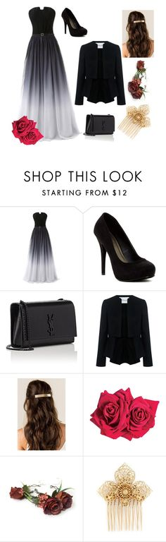"""""""Prom night"""" by sophiedjk ❤ liked on Polyvore featuring Michael Antonio, Yves Saint Laurent, 10 Crosby Derek Lam, Avon and Miriam Haskell"""