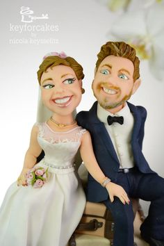 Romantic trip into marriage by Nicola Keysselitz Wedding Cake Toppers, Wedding Cakes, Character Modeling, Romantic Travel, Daily Inspiration, Cake Decorating, Marriage, Disney Princess, Couples