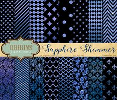 Sapphire Shimmer Digital Paper @creativework247