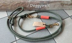Dog Leash adjustable from high-quality mm climbing rope. It is a flexible or adjustable guide line with takeling in orange Ring Der O, Dog Leash, Basic Colors, Orange, Studs, Brass, Personalized Items, Dogs, Silver