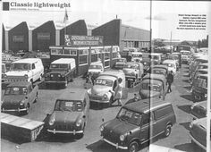 New Minivans & Pickup On Sale - Bmc Garage 1968 - Original Archive, Specialist and Limited Edition Tech and Info Classic Mini, Classic Cars, Old Vintage Cars, Best Of British, Ford Transit, Commercial Vehicle, Weird And Wonderful, Pick Up, Wonders Of The World