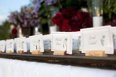 Escort Cards 101: Go rustic with wine corks! #TuesdayTip #weddings #winecorks