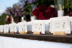 Escort Cards 101: Go rustic with wine corks! #TuesdayTip #weddings #winecorks