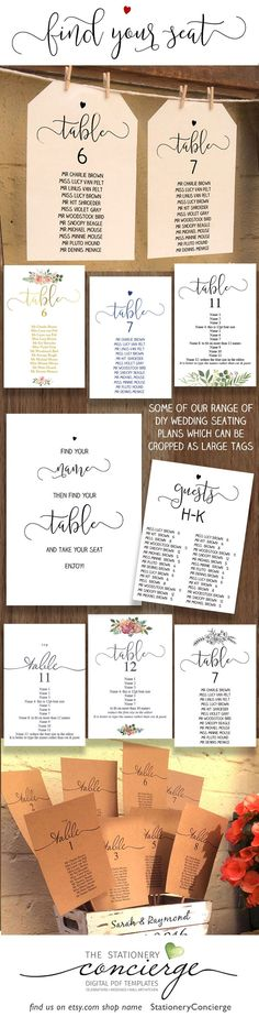 4a2d316548f8 A range of wedding seating plans to instantly download