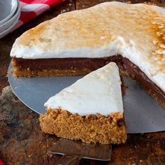 Try this super-easy shortcut for s'mores pie: Top a storebought graham cracker pie shell with chocolate pudding and marshmallow fluff, and stick in the freezer until set.