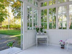 Three Season Porch, Potting Sheds, Swedish House, Cabana, Sunroom, Garden Plants, Entrance, House Plans, Deck