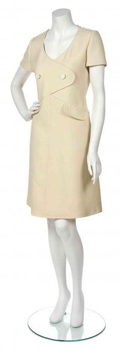 Courreges Cream Dress, c 1960