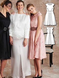 Retro Cocktail Dress 03/2016 #125 http://www.burdastyle.com/pattern_store/patterns/retro-cocktail-dress-032016?utm_source=burdastyle.com&utm_medium=referral&utm_campaign=bs-tta-bl-160229-BridesmaidDressesCollection125