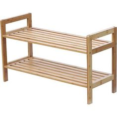 Oceanstar SR1309 2 Tier Bamboo Shoe Rack 22.99 plus shipping  27 L x 10.7 W x 15.5 H (inches)