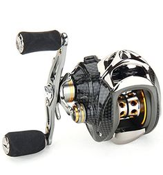 Annymall Right/Left EVA Hand 18+1 Ball Bearings Baitcasting Fishing Reel 6.3:1 Ultra Smooth High Speed Gear Ratio Light Carbon Fiber Drag Fishing Reel Flexible and Precise Baitcasting Reel