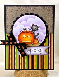 Spooky Card by Shannon White #Cardmaking, #Halloween, #Critters