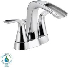 Delta Tolva 4 in. Centerset 2-Handle Bathroom Faucet in Stainless-25724LF-SS-ECO - The Home Depot