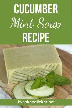 31e5588768d082 Cucumber Mint Cold Process Soap. Fait MaisonRecette BioTravaux ...