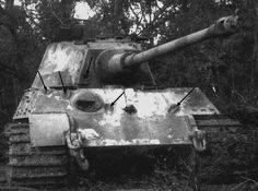 This King Tiger was at least 8 times hit by a M36 Jackson 90mm gun- none of them deadly. However, one of the shots was a lucky one and disabled the main gun's muzzle break. So the German tank crew could not fire back and had to abandon their more superior tank.