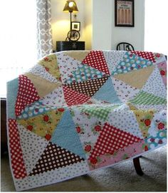 Scrappy quilt patterns - EASY AS PIE A Scrappy Quilt Pattern Fat Quarter & Scrap Friendly By Karen Walker Laugh Yourself Into Stitches 108 – Scrappy quilt patterns Scrappy Quilt Patterns, Scrappy Quilts, Easy Quilts, Patchwork Quilting, Star Quilts, Fat Quarter Quilt Patterns, Crazy Patchwork, Block Patterns, Big Block Quilts