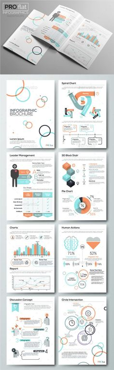 Pro Flat Infographic Brochure Template PSD, Vector EPS, AI Illustrator. Download here: http://graphicriver.net/item/pro-flat-infographic-brochure-set-7/16491476?ref=ksioks
