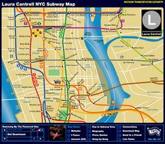 Laura Cantrell, one of my favourite singers, has renamed the stations and lines on the NYC Subway Map to pay tribute to her musical heroines.