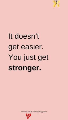 BEST MOTIVATIONAL & INSPIRATIONAL GYM / FITNESS QUOTES - Lauren Gleisberg BEST MOTIVATIONAL & INSPIRATIONAL GYM / FITNESS QUOTES - it doesn't get easier you just get stronger<br> 20 of the best motivational quotes for the gym and to inspire your health and fitness journey. You can download & save these to your phone background! Motivacional Quotes, Life Quotes Love, Best Motivational Quotes, True Quotes, Words Quotes, Quotes To Live By, Best Quotes, Motivating Quotes, Inspirational And Motivational Quotes