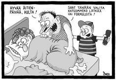 Äitienpäivä Learn Finnish, Some Fun, Live Life, Peanuts Comics, Burlap, Humor, Learning, Words, Memes