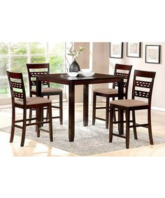 Love this Seville Five-Piece Counter Dining Set on #zulily! #zulilyfinds