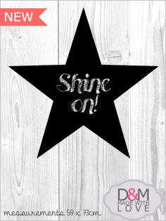 Star chalkboard wall mounted by D&M made with love