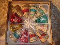Vintage Christmas Ornaments. Christmas Bells.