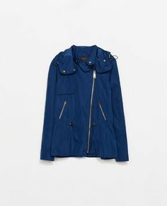 Image 7 of JACKET WITH HOOD AND ZIPPERS from Zara
