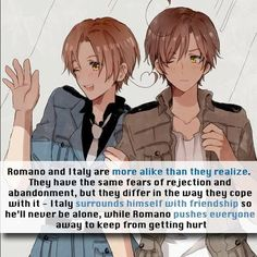 that makes them seem so much deeper instead of just two stupid brothers