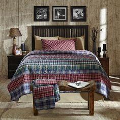 Douglas Twin Quilt Bundle (Quilt, Burlap Natural Skirt and Standard Sham)