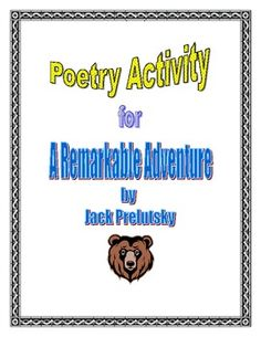 Poetry Activity for A Remarkable Adventure by Jack Prelutsky - great back to school activity!