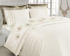 Jogo de (lençol) Cama – Ambiance Elegance Cetim Casal Duvet Cover Set (bordado) - Produtos Importados da Turquia - Loja VirtualProdutos Importados da Turquia – Loja Virtual