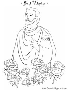 Saint Valentine Coloring Page | Catholic Playground