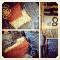old hollister jeans made into new shorts
